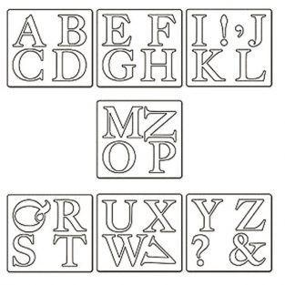 Matrice de découpe - Alphabet en majuscule