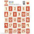 64 sellos adhesivos Calendario de Adviento - Navidad escandinava