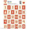 64 Timbres stickers Calendrier de l'Avent - Noël Scandinave