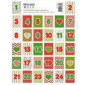 64 sellos adhesivos Calendario de Adviento - Elfos