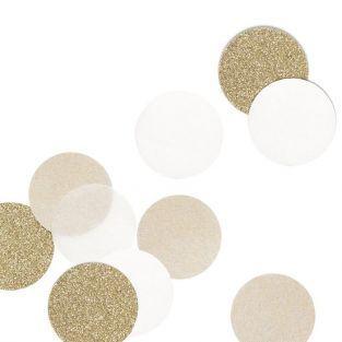 30 Confettis - beige & gold