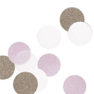 30 confettis rose et doré