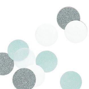 30 Confettis - silver & blue