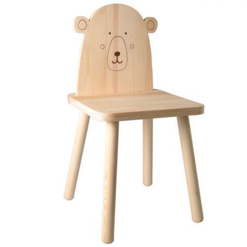 Silla infantil de madera para pintar 29 x 57,5 cm - Osito