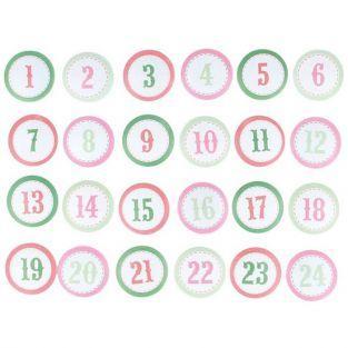 24 chiffres en bois pour calendrier de l'Avent - Home Sweet Home