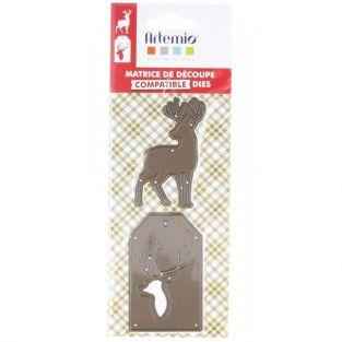 Thinlits Cutting die for Sizzix - Christmas deers