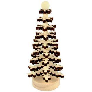 Coffret DIY décorations de Noël - sapins en bois à monter soi-même