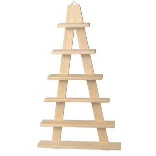 Wooden shelf easel - 6 boards 30 x 50.5 cm