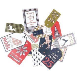 15 étiquettes de Noël - Ecossais