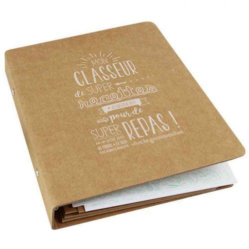 Coffret diy pour scrapbooking mon classeur de recettes - Ecrire un livre de cuisine ...