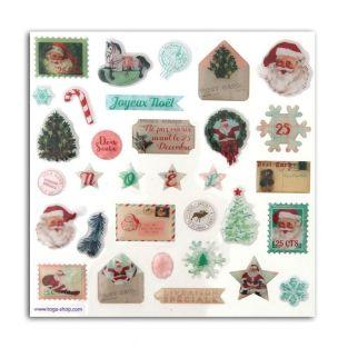 32 stickers epoxy pour scrapbooking - Dear Santa