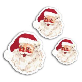 12 scrapbooking die-cuts - vintage Santa Claus