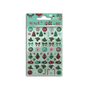 60 epoxy stickers for scrapbooking Merry Christmas