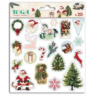 20 puffy stickers - Dear Santa