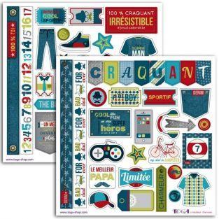 57 stickers - 100% Masculine