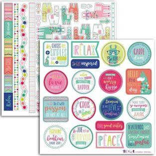 69 stickers for scrapbooking - Lama Cool