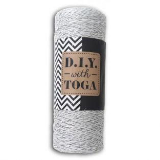 Baker's twine 100 m - silver and white