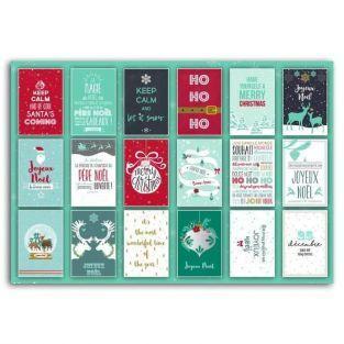 Bloc 18 Postales navideñas 10 x 15 cm