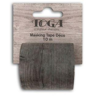 Masking tape large wood effect - 10 m x 5 cm