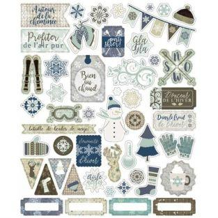 50 die-cuts Let it snow