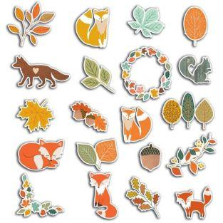 20 scrapbooking die-cuts - Delicate Autumn