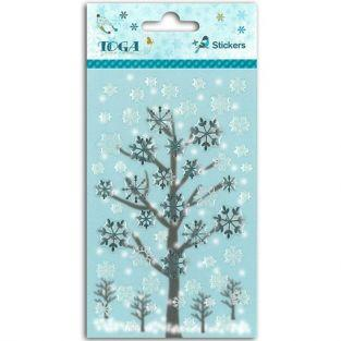 50 epoxy stickers for scrapbooking Winter games - Flakes