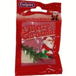 Christmas Cake decorations - Merry Christmas red
