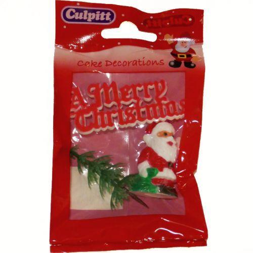 Decoraciones para pasteles de Navidad - Feliz Navidad roja