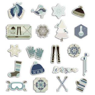 20 scrapbooking die-cuts - Frosted Christmas