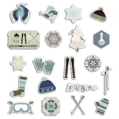 20 formes découpées pour scrapbooking - Noël givré