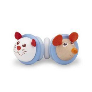 Cat-mouse rattle