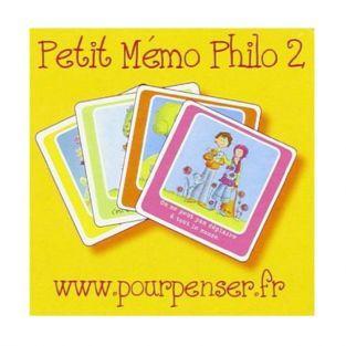 Jeu de cartes Memo Philo 2