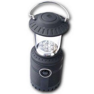 Lampe de camping solaire avec dynamo - 6 LEDs
