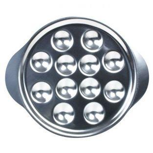 6 stainless steel snail plates - 12 holes