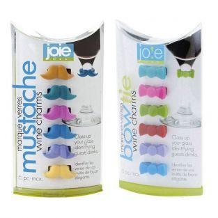12 marcadores de vasos de silicona