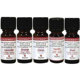 5 scented oils for candles - cinnamon, vanilla, lemon, orange, lavender