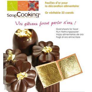 10 hojas de oro comestibles
