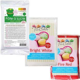 Kit pasta de azúcar de Italia - verde-blanco-rojo