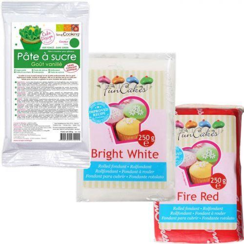 Sugar paste kit Italy - green-white-red