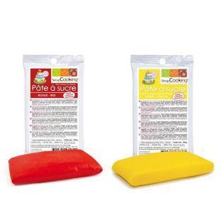 Kit de pâte à sucre Espagne - jaune-rouge