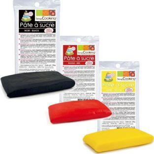 Kit pasta de azúcar Alemania - negro-rojo-amarillo