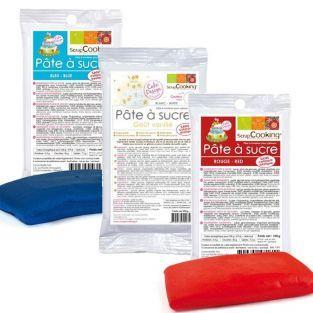 Sugar paste kit France - blue-white-red - 450 g