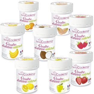 Coffret 8 arômes alimentaires naturels en poudre