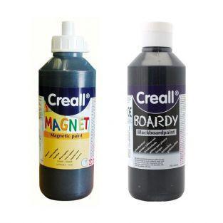 Black magnetic paint + Slate paint