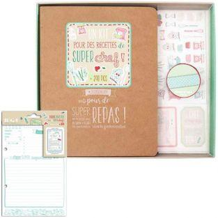 Carpeta de recetas personalizable + 20 tarjetas 14 x 21 cm