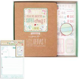 DIY recipe binder kit + 20 cards 14 x 21 cm