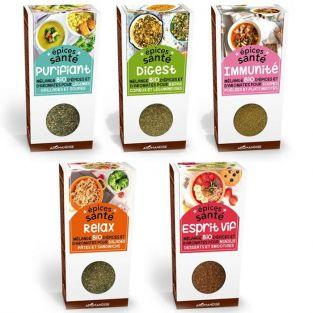 5 mezclas de especias orgánicas saludables