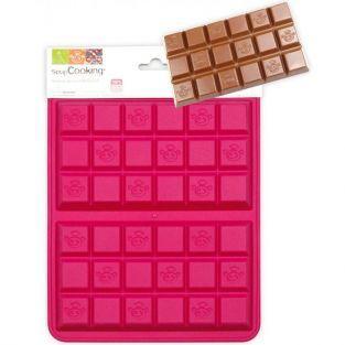 Moule en silicone pour 2 tablettes de chocolat