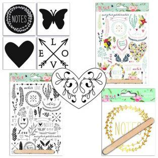 Lovely Flowers Kit - stamps, stickers & decals
