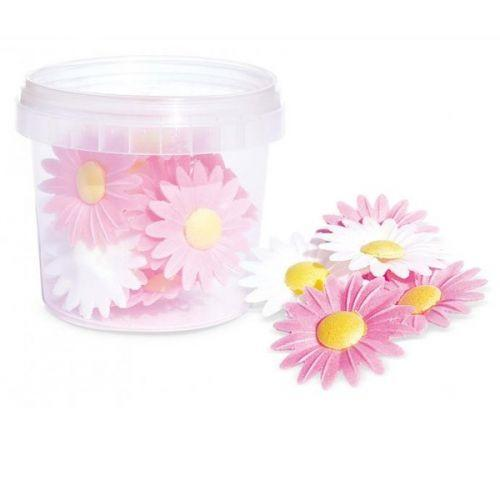 Wafer sheets - 18 daisies